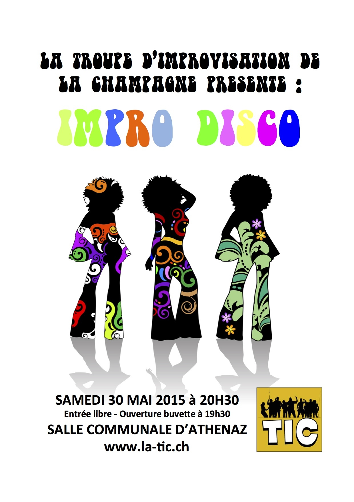 Affiche_spectacle_impro_disco_silhouettes